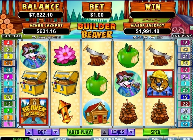 Play Builder Beaver Free Slot Game