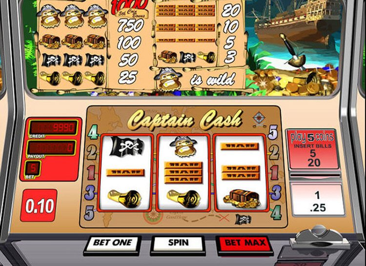 Play Captain Cash Free Slot Game