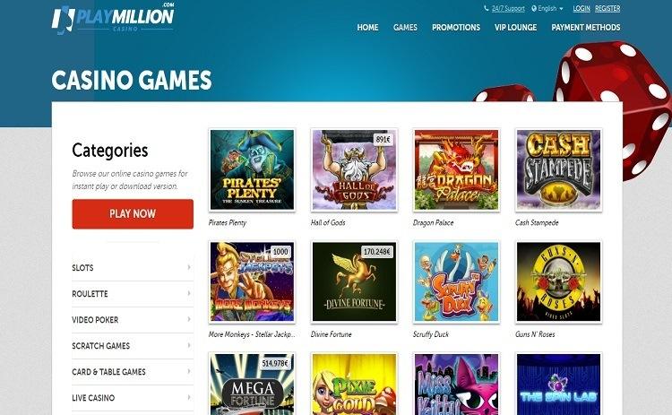 Play Million casino games