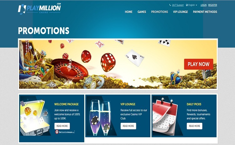 Play Million casino bonus