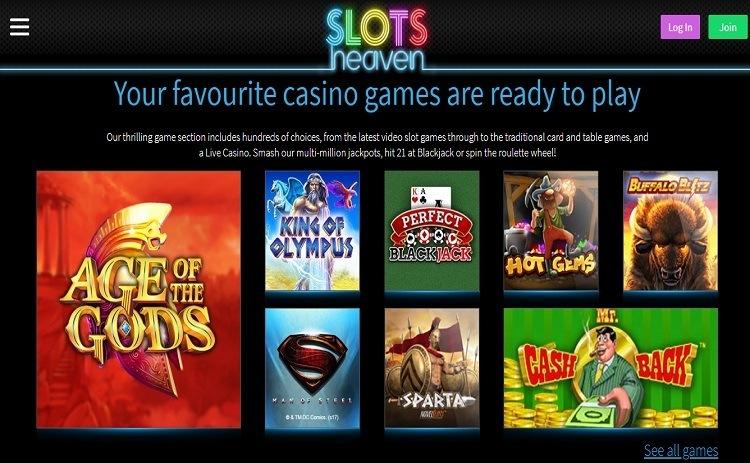 Slots Heaven casino games