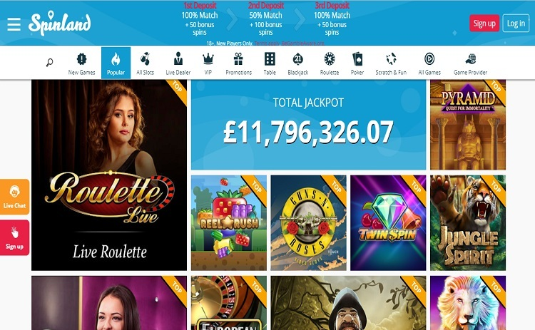 Spinland casino games