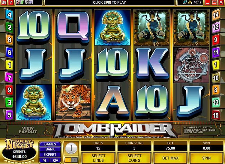Play Tomb Raider Slots For Free