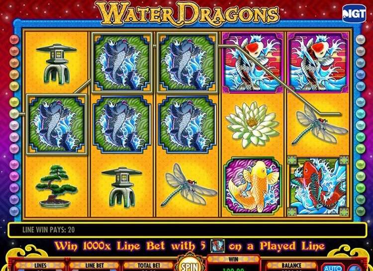 Play Water Dragons Free Slot Game